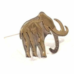 Elephant Mammoth Skeletal Brooch Sterling